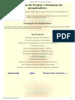 2- Divulgação Do Projeto e Formação de Pesquisadores