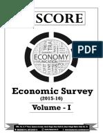 Economic Survey 2015 16 Volume 1 Summary