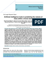 Artificial intelligence tools in predicting the volume of trees within a forest stand