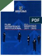 Plan Estrategico Institucional MUNI de MIRAFLORES
