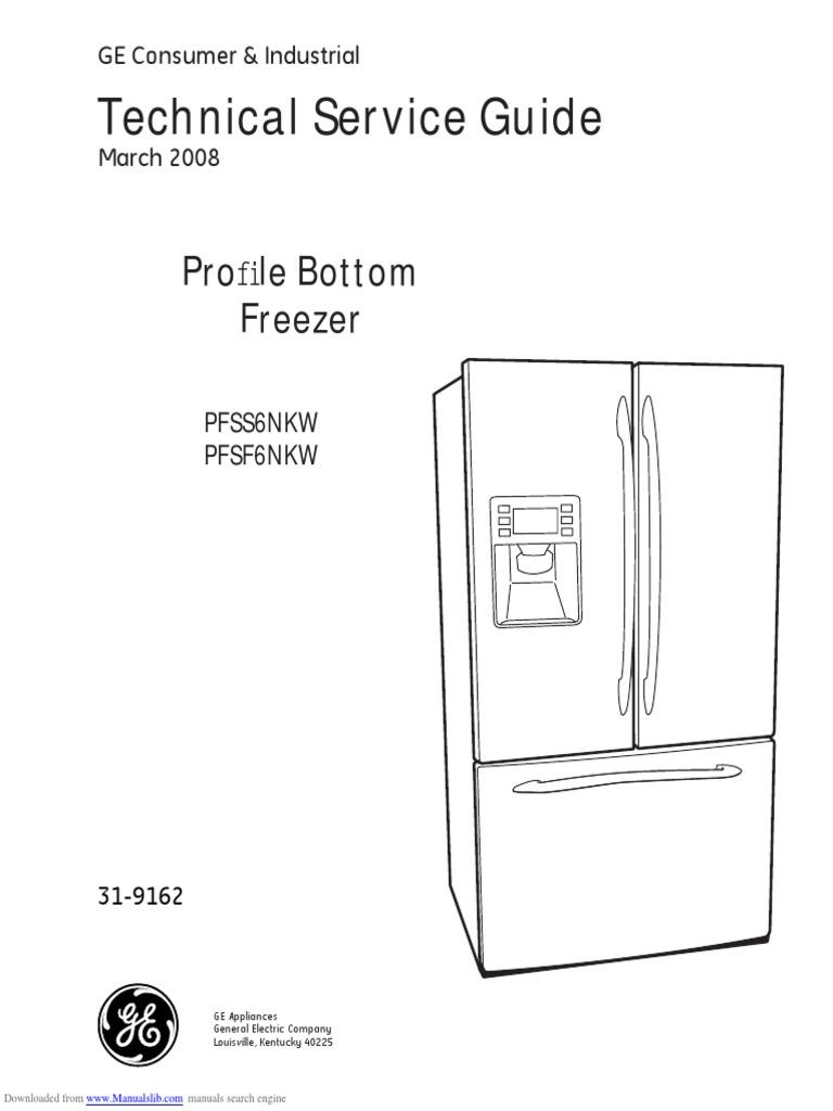 Pfss6nkw Ge Refrigerator Service Manual Screw Case Circuit Breaker Mini Defrost Timer