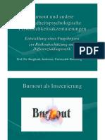 Burnout Tagung Falkenstein Prof Dr Andresen