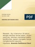 Anemia Defisiensi Besi - PPT PBL Blok 24 - 2011 - Edvan