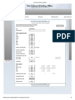 Cement Parameters Calculation