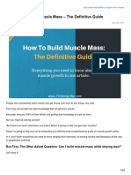 How to Gain Lean Muscle Mass the Definitive Guide