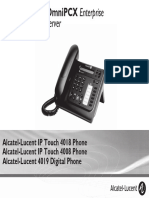 ENT PHONES IPTouch-4008-4018-4019Digital-OXEnterprise Manual 0907 FR
