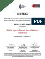Certificado Modulo I PUCP 2015