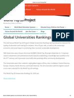 University Rankings 2016
