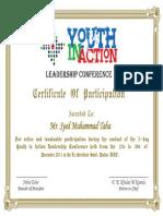 YIA Certificate