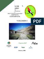 Cotapata Parque nacional manejo integrado