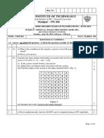 Medical Image Processing (BME-306) (Makeup) RCS