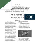 Fokker D7 - A Free-Flight Model Airplane