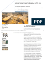 Cómo Enfrentar La Minería Informal e Ilegal,Por Roque Benavides _ Colaboradores _ Opinión _ El Comercio Peru