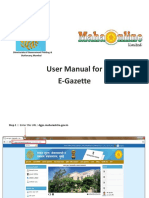 E Gazette User Manual PDF 21
