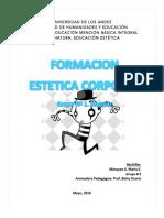 Aporte del Trabajo Formación Estética Corporal Grupo 1. Comprensión Singular Grupo Nº 3