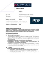 Reconciliation Officer - Finance