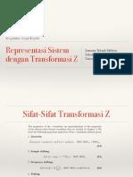 Representasi Sistem Dengan Transformasi Z