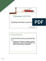 Dynamics Lecture 1b