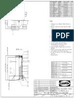 62 122 0040 07 Rev1 GA DSP PIG Detector, Ex Ia, Local Light and Reset, No Cable or Gland