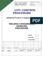 Welding Consumables Handling Procedure.