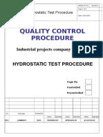 Hydrostatic Test Procedure