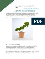 Las 15 Leyes Indispensables Del Crecimiento de John Maxwell