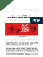 Communiqué de Presse Front Populaire 1936-2016