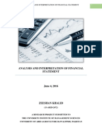 Analysis and Interpretation of Financial Statement