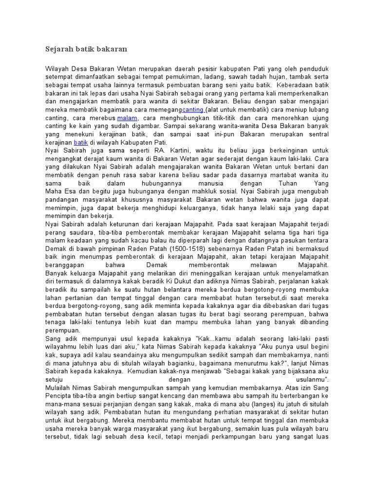 Sejarah Batik Bakaran ebab910b51