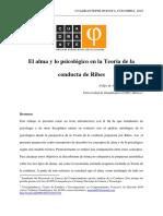 El Alma y Lo Psicológico en la teoría de la conducta de Ribes