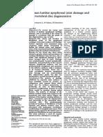 Swanepoel - Apophyseal joint damage and intervertebral disc degeneration