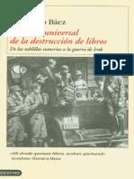 Baez Fernando - Historia Universal de La Destruccion de Libros