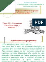 correctionThème 221 – Pourquoi une Union Economique et monétaire.ppt
