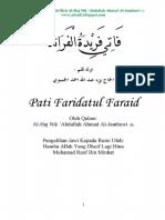 Kitab Pati Faridatul Faraid