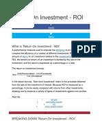 Return On Investment.docx