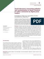 Social Discourse Concerning Pollution