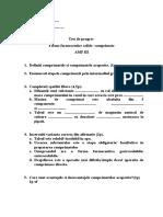 Test de Progres f.f.solide Comprimate