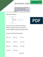 Exercicios Divisão matemática basica
