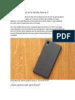 Sony Se Centrará en La Familia Xperia X