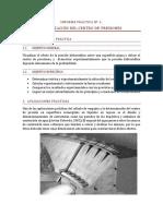 Informe 01. Localización Del Centro de Presiones