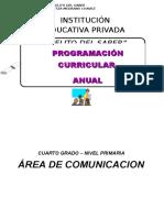 Programación Curricular Anual Oficial de Comunicacion