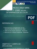 NORMA MEXICANA NMX-AA-017-1980 AGUAS.pptx