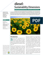 Biodiesel - The Sustainable Dimension