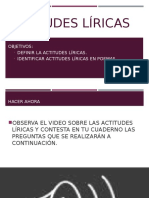 ACTITUDES LÍRICAS