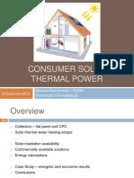 Consumer Solar Thermal Power - Presentation