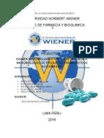EXAMEN MICROBIOLOGICO Y REPORTE DE CONTROL MICROBIOLOGICO DE PRODUCTOS FARMACEUTICOS NO ESTERILES.