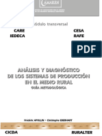 Analisis y Diagnostico de Los Sistemas de Produccion en El Medio Rural Guia Metodologica