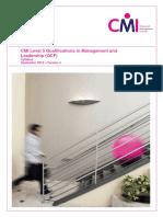 Level 5 Management and Leadership September 2015 Syllabus v04