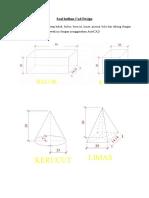 Latihan Membuat Bangun Ruang CAD