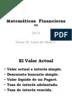 02-Matemáticas Financieras - I